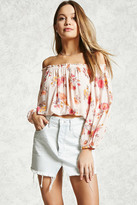 Forever 21 Off-the-Shoulder Floral Top