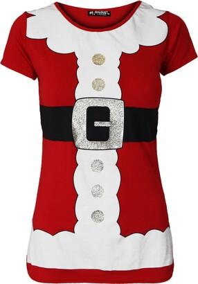 Be Jealous Women Ladies Cap Sleeve Gingerbread Climb Candy Stick Christmas Xmas T Shirt Top Grey
