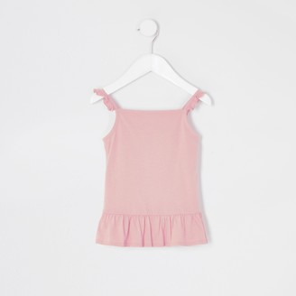 River Island Mini girls Pink frill cami top