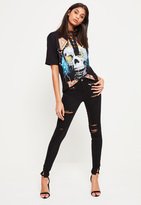 Missguided Anarchy Twisted Seam Jean Black