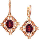 Effy Bordeaux by Rhodolite (5-1/3 ct. t.w.) and Diamond (5/8 ct. t.w.) Earrings in 14k Rose Gold