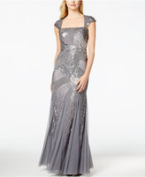 Adrianna Papell Sequin Beaded Ball Gown
