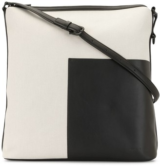 agnès b. Contrast-Panel Shoulder Bag