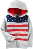 Osh Kosh Oshkosh Bgosh Toddler Boy Flag Zip Hoodie
