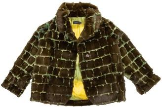 Romeo Gigli Green Rabbit Coat for Women