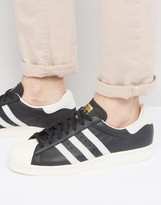 adidas Superstar 80s Sneakers In Black BB2232
