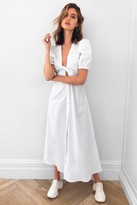 Thumbnail for your product : Nasty Gal Womens Cut Out V Neck Button Maxi Dress - White - 8