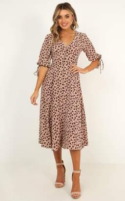 Showpo Tonal Feel Dress in burgundy floral - 4 (XXS) Dresses