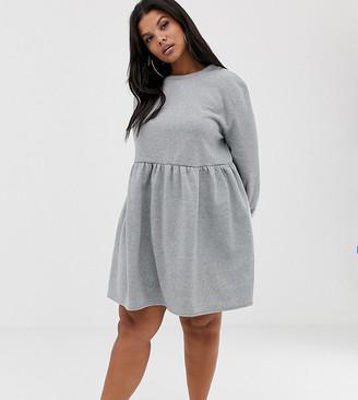Rokoko Plus oversized smock sweat dress
