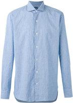 Barba button-up shirt - men - Cotton/Linen/Flax - 41