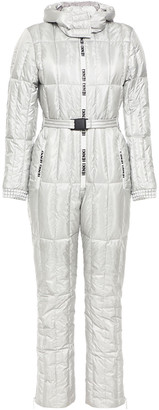 Ienki Ienki Monogram-trimmed Quilted Shell Down Ski Suit