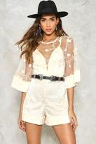 Nasty Gal nastygal Stem to Stem Embroidered Romper