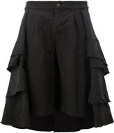 Comme des Garcons pleated tiered full skirt - women - Polyester - S