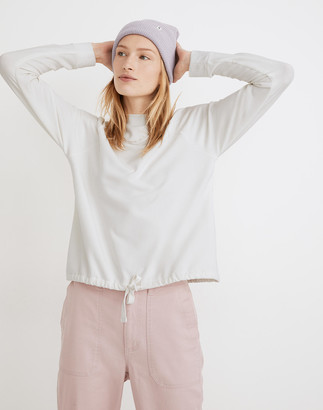 Madewell MWL Superbrushed Mockneck Drawstring Sweatshirt