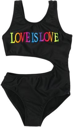 Alberta Ferretti Kids Love is Love swimsuit