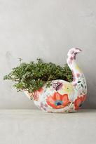 Anthropologie Bird In The Garden Pot