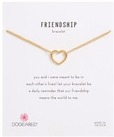Dogeared Women's Friendship Medium Open Heart Charm Chain Bracelet