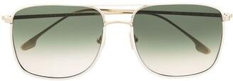 Victoria Beckham Square-Frame Aviator Sunglasses