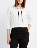 Charlotte Russe Squad Cropped Hoodie