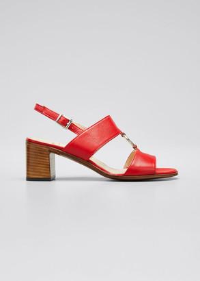 Gravati Leather Ring Slingback Sandals