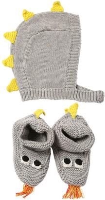 Stella Mccartney Kids Intarsia Blend Cotton Knit Hat & Socks