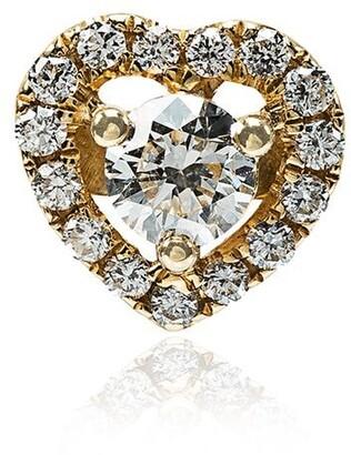 Rosa de la Cruz Diamond Heart Single Stud Earring