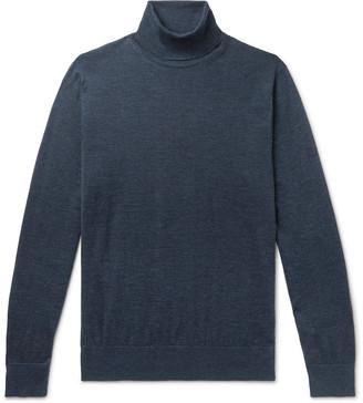 Ermenegildo Zegna Melange Cashmere And Silk-Blend Rollneck Sweater