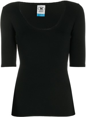 M Missoni fine knit scoop neck T-shirt