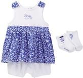 Absorba Romper & Socks Set (Baby Girls)