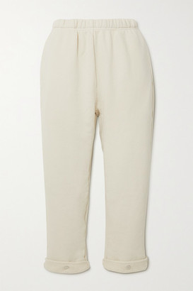 LES TIEN Cropped Cotton-jersey Track Pants