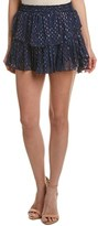 LoveShackFancy Loveshackfancy Ruffled Silk-blend Mini Skirt.