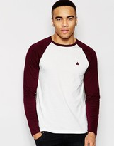 Asos Long Sleeve T-Shirt With Contrast Raglan & Logo
