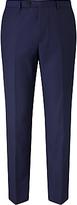 John Lewis Super 100s Wool Birdseye Tailored Suit Trousers, Blue