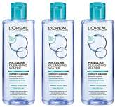 L'Oreal Micellar Cleansing Water, Oily Skin Facial Cleanser & Makeup Remover, 3 count