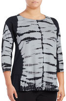 Calvin Klein Performance Plus Tie-Dyed Performance Top