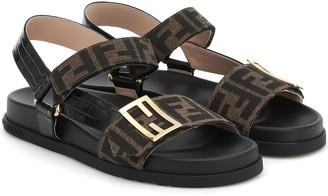 Fendi FF jacquard sandals