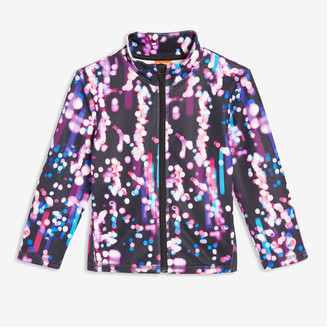 Joe Fresh Toddler Girls' Print Fleece Jacket, Black (Size 5)