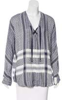 Rails Patterned Lace-Up Tunic