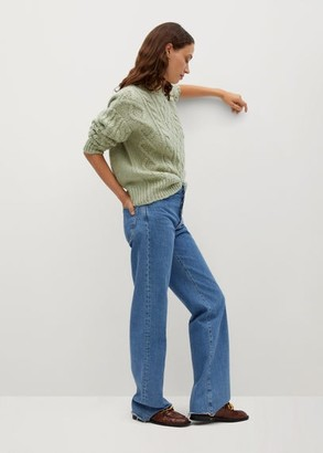 MANGO Cable-knit sweater medium brown - XS - Women