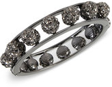 INC International Concepts Hematite-Tone Metallic Pavé Orb Openwork Hinged Bangle Bracelet, Only at Macy's