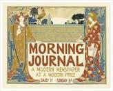 Eurographics Morning Journal, A Modern Newspaper Art Print Poster by Louis John Rhead