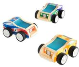 Guidecraft 3-Pack Jr. Plywood Race Cars