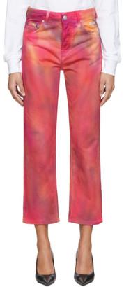 MSGM Pink Tie-Dye Jeans