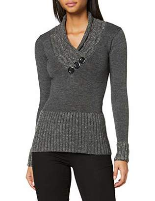 Joe Browns Women's Curiously Cosy Knit Jumper, Grey (Grey (Size:)
