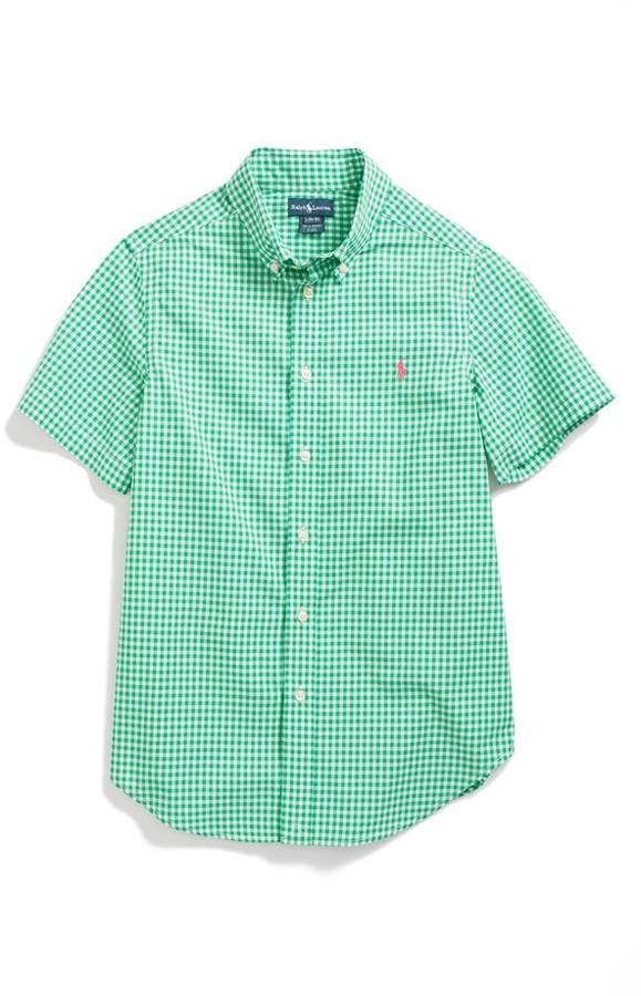 Ralph Lauren Gingham Shirt (Big Boys)