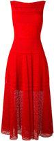 Talbot Runhof textured panel dress - women - Polyamide/Polyester/Spandex/Elastane - 34