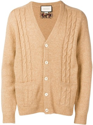 Gucci GG intarsia cable-knit cardigan