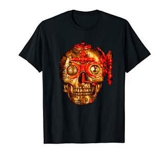 Steampunk Mechanic Skull Art Design Gift T-Shirt