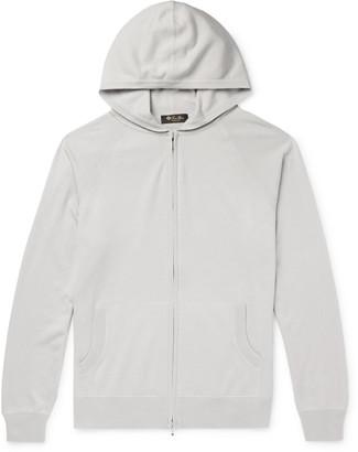 Loro Piana Portland Melange Cashmere And Silk-Blend Zip-Up Hoodie