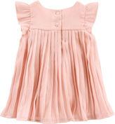 Osh Kosh Oshkosh Short Sleeve Blush Pleat Dress - Baby Girls